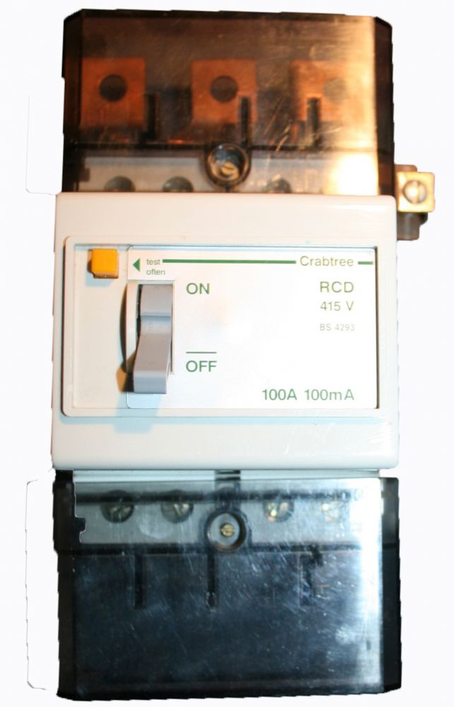 4 Pole 100 Amp 415v 3 Phase Rcd 100ma Residual Current
